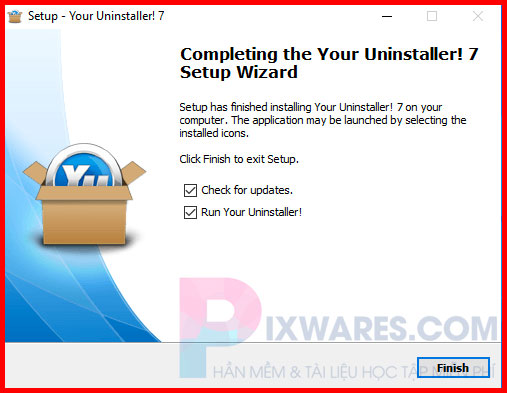 cai-dat-your-uninstaller-xong-bam-finish
