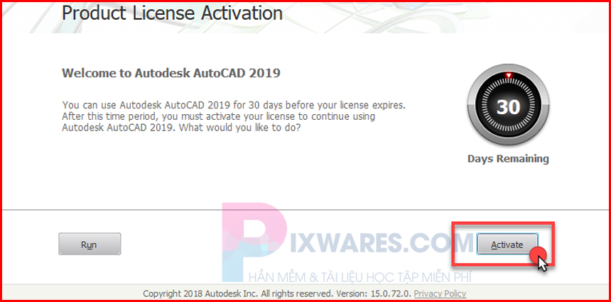 tren-cua-so-autocad-2019-bam-activate