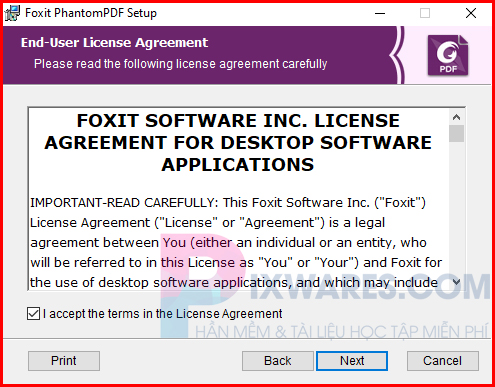 tren-cua-so-foxitphantompdf-bam-i-accept-the-terms-in-the-license-agreement-va-next