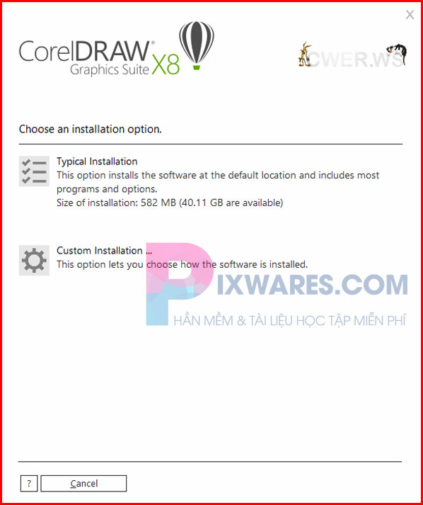 nhan-chon-typical-installation-de-cai-dat-corel-x8