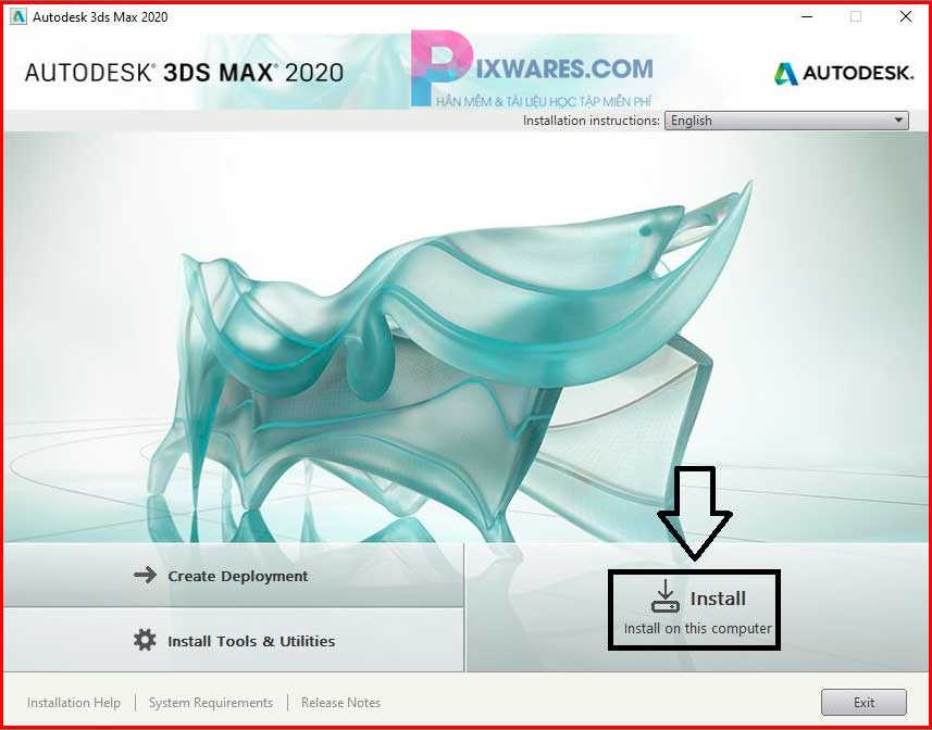 chon-install-on-this-computer-de-tien-hanh-cai-dat-autodesk-3ds-max