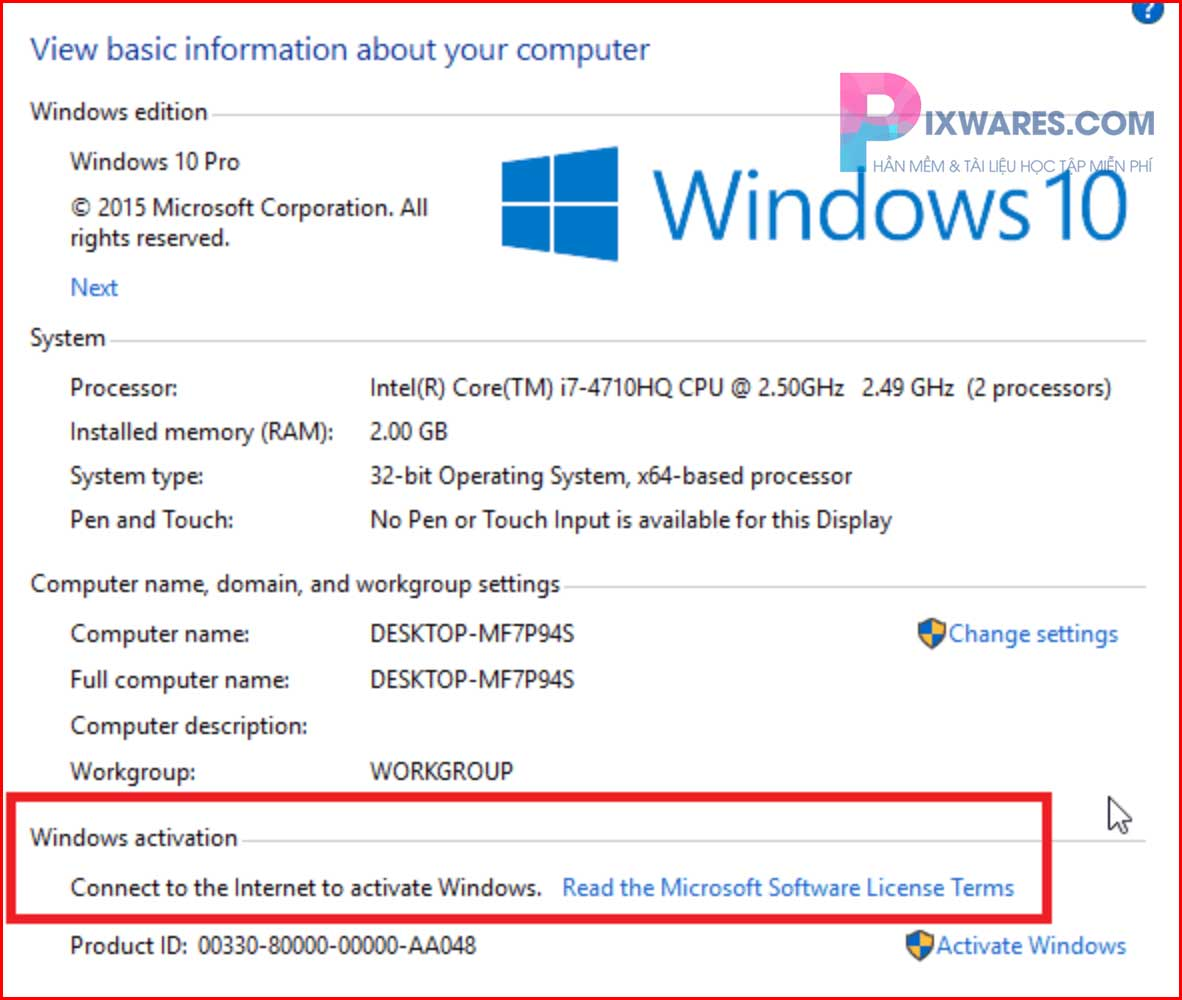 dong-chu-connect-to-the-internet-to-activate-windows