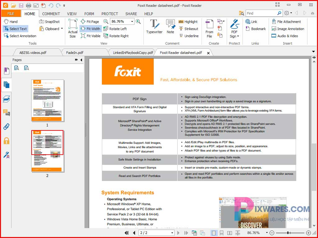 foxit-reader-ung-dung-doc-pdf-mien-phi