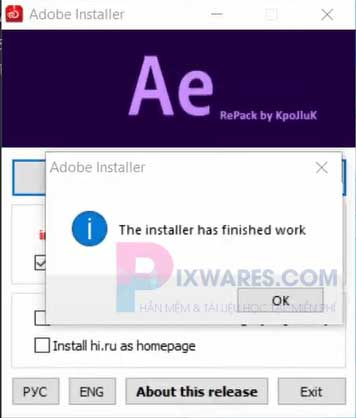 the-installer-has-finished-work-ban-hay-nhan-ok-va-exit